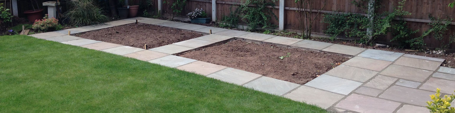 Slideshow banner image for Patios, Paving and Slabbing